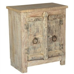 Amish 2 Door Old Wood Small Rustic Accent End Table Storage Cabinet