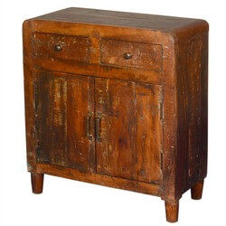 Irvin Distressed Reclaimed Wood Freestanding 2 Drawer Buffet Cabinet