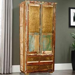 Nesbitt Golden Coins Reclaimed Wood 2 Bottom Drawer Armoire Cabinet