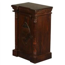 Gothic Lemon Handcrafted Reclaimed Wood Single Door Nightstand Cabinet