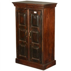 Elderon Reclaimed Wood Double Door Rustic Armoire