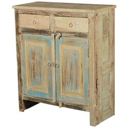 Dellroy Rustic Reclaimed Wood Free Standing 2 Drawer Buffet Cabinet