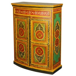 Imperial Garden Hand Painted Mango Wood Buffet Cabinet
