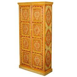 """Sun Garden Hand Painted Mango Wood 71.5"""" 2-Door Armoire Cabinet"""