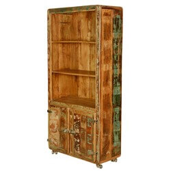Torreon 3 Open Shelf Rustic Reclaimed Wood Large Bookcase Hutch