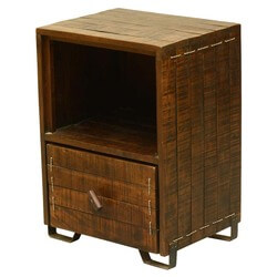 Modern Scholar Reclaimed Wood Single Drawer End Table