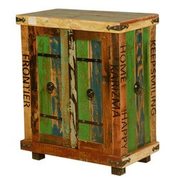 Seminole Rustic Reclaimed Wood Freestanding Storage Cabinet