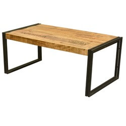 Industrial Double Frame Mango Wood & Iron Coffee Table