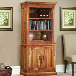 Idaho Modern Solid Wood Standard Home Office Bookcase Storage Cabinet