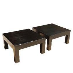 """Solid Wood Kansas 16"""" H Square Bedside End Table (Set of 2)"""