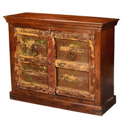 Dousman Gothic Times Reclaimed and Mango Wood Storage Console Cabinet
