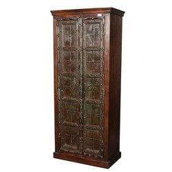 Bartelso Gothic Gates Solid Mango & Reclaimed Wood Armoire Cabinet