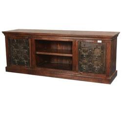 Pegville Gothic Stars Mango & Reclaimed Wood TV Media Console Cabinet