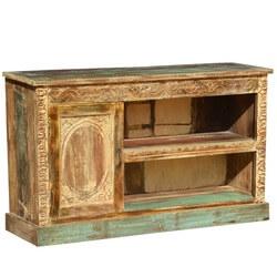 Elizabethan Rustic Reclaimed Wood TV Media Console Furniture