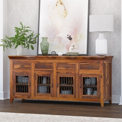 San Francisco Modern Texas Solid Wood Large Buffet Cabinet