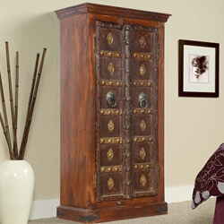 Broward Golden Medallions Mango & Reclaimed Wood 2 Door Armoire