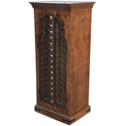 Destin Traditional Solid Mango & Reclaimed Wood Linen Cabinet