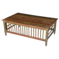 Crib Railing Reclaimed Wood Rustic Coffee Table