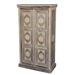 Otway Golden Medallions Solid Reclaimed Wood Storage Armoire Cabinet