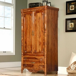 Volusia Solid Wood Single Drawer French Provincial Wardrobe Armoire