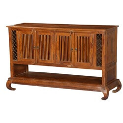 Empire Revival Solid Wood Media Cabinet TV Console