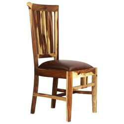 Dallas Ranch Comb Back Solid Wood Upholstered Dining Chair