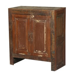 Old Chicago Distressed Mango Wood Freestanding Cabinet