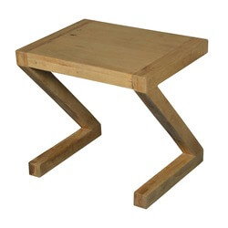 Contemporary Frosted Z Mango Wood Accent End Table