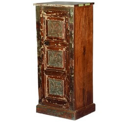 "Rustic Twisted Vines Reclaimed Wood 47.5"" Single Door Cabinet"