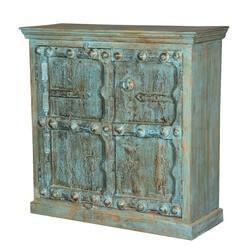 Blue Danube Gothic Reclaimed Wood Double Door Cabinet