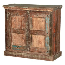 Mahwah Rustic Gothic Gates Reclaimed Wood Storage Cabinet