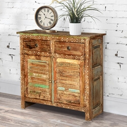 Aberdeen Shutter Door Reclaimed Wood Freestanding Rustic Sideboard