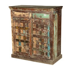 Drakensberg Rustic Reclaimed Wood 2 Drawer Storage Cabinet