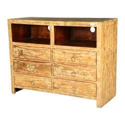 Blondie Modern Reclaimed Wood 6 Drawer Double Dresser