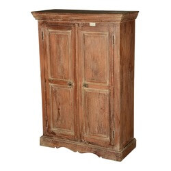Colonial American Rustic Reclaimed Wood Freestanding Cabinet