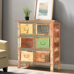 Pioneer Handcrafted Reclaimed Wood 6 Drawer Dresser Chest