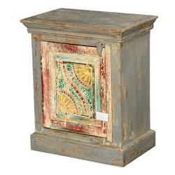 Van Gogh Swirls Mango Wood Handcrafted Nightstand Cabinet