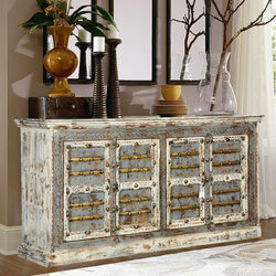 Nottingham Gothic Mango Wood 4 Door Dining Rustic Buffet