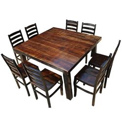 Kansas City Rustic Farmhouse Counter Height Square Dining Set