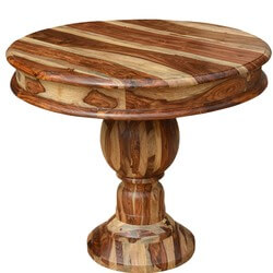 Dallas Solid Wood Round Pedestal Restaurant Table