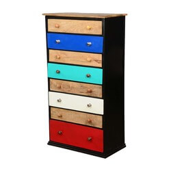 Provo Basic Colors Industrial 8 Drawer Tall Chest