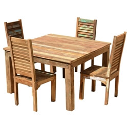 Ohio Reclaimed Wood Furniture Dining Table Shutter Back