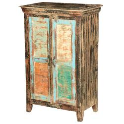Hinton Rustic Mango Wood Standing 2 Door Storage Cabinet