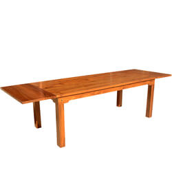 Simply Modern Solid Teak Wood Dining Table w Extensions