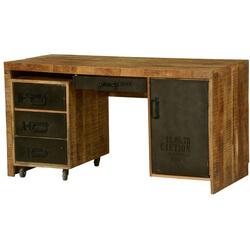 Industrial Urban Blend Wood & Iron Computer Desk