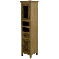Oklahoma Honey Mango Wood Skinny Freestanding Display Curio Cabinet