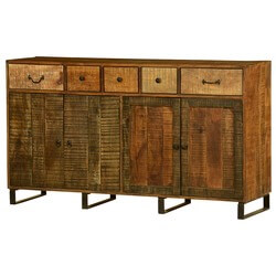 Sparta Wooden Patches Mango Wood Standing Large Sideboard Cabinet