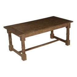 "Nottingham Rustic Mango Wood Gothic 72"" Dining Table"