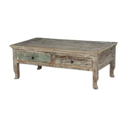 Winter Storm Reclaimed Wood Coffee Table w 2 Drawers