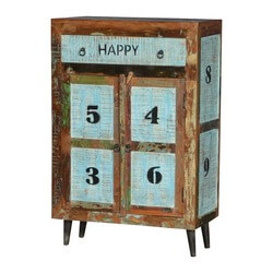 "By-The-Numbers Reclaimed Wood Freestanding 31.5"" Wide Cabinet"